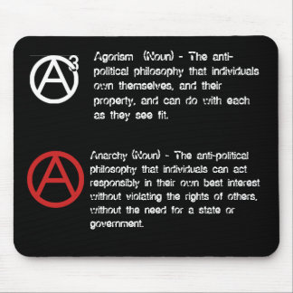 Agorism & Anarchy defined Mouse Mat