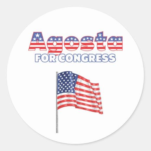 Agosta for Congress Patriotic American Flag Stickers