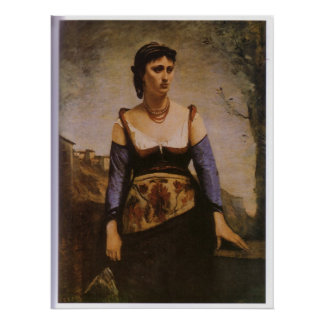 Agostina 1866 by Jean-Baptiste-Camille Corot Poster