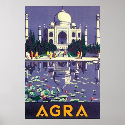 Agra Vintage Travel Poster