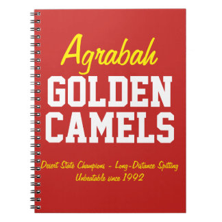 Agrabah Golden Camels Notebook