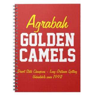 Agrabah Golden Camels Spiral Notebook