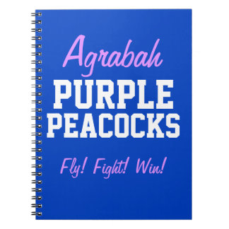 Agrabah Purple Peacocks Notebook