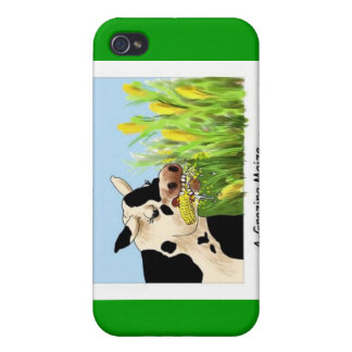 Agrazing Maize (Funny Cow Gifts Cards Etc) iPhone 4 Covers