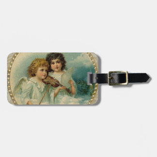 Agreeable - Two Little Musical Angels Luggage Tag