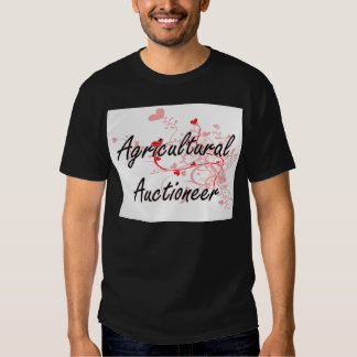 Agricultural Auctioneer Artistic Job Design with H T-shirt