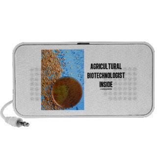 Agricultural Biotechnologist Inside Genetic iPod Speaker