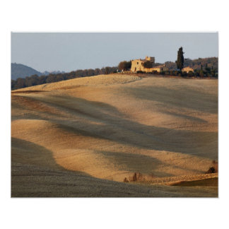 Agricultural field at sunset Val d Orcia Tusca Posters