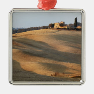 Agricultural field at sunset, Val d'Orcia, Tusca Christmas Ornament
