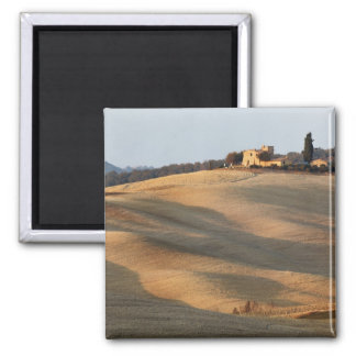 Agricultural field at sunset, Val d'Orcia, Tusca Magnet