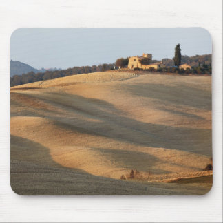 Agricultural field at sunset, Val d'Orcia, Tusca Mouse Mat