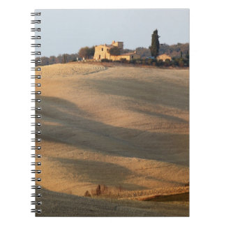 Agricultural field at sunset, Val d'Orcia, Tusca Note Book