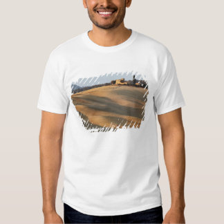 Agricultural field at sunset, Val d'Orcia, Tusca Shirts