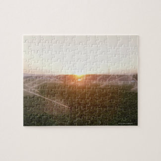 Agricultural irrigation system watering jigsaw puzzle