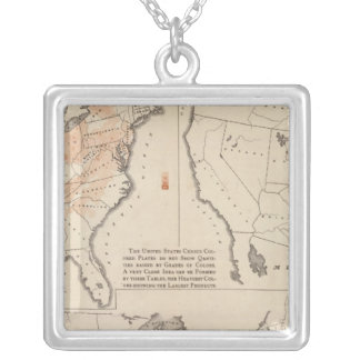Agricultural Productions in the US Silver Plated Necklace
