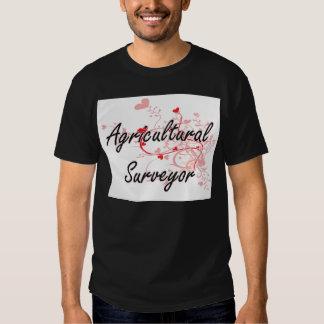 Agricultural Surveyor Artistic Job Design with Hea T Shirts