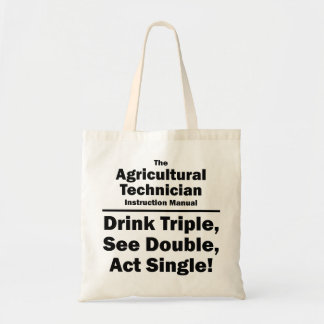 agricultural technician tote bags