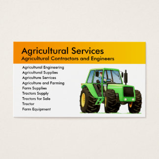 Agriculture and Agricultural Contractor