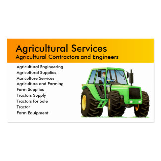 Agriculture and Agricultural Contractor Pack Of Standard Business Cards