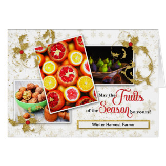 Agriculture Business Holiday Fruits of the Season Card
