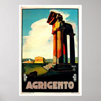 Agrigento Sicily Italy Travel Art Print