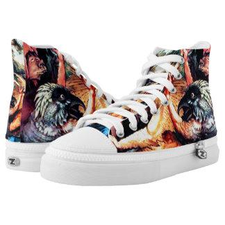 Agrippa Demons Custom Zipz High Top Kickers Printed Shoes