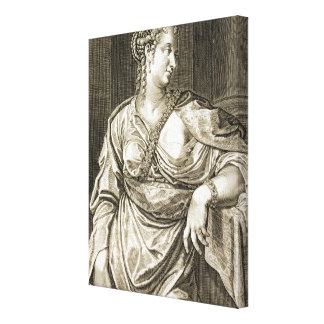 Agrippina wife of Tiberius (engraving) Canvas Print