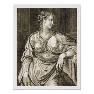 Agrippina wife of Tiberius (engraving) Poster