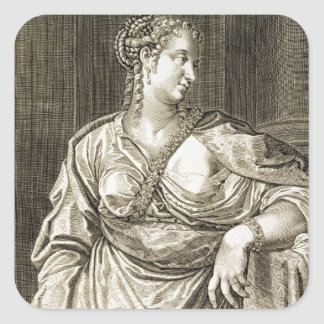 Agrippina wife of Tiberius (engraving) Square Sticker