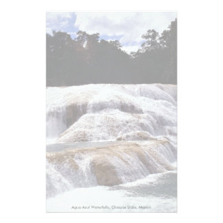 Agua Azul Waterfalls Chiapas State Mexico Stationery Design