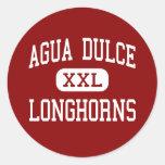 Agua Dulce - Longhorns - Senior - Agua Dulce Texas Round Stickers
