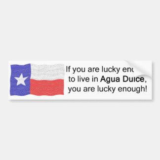 Agua Dulce Lucky Bumper Sticker Car Bumper Sticker
