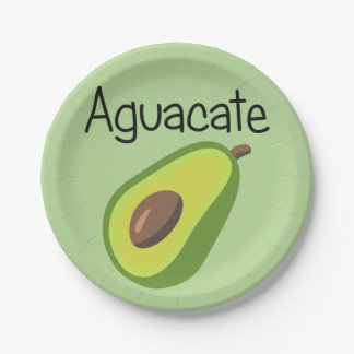 Aguacate (Avocado) Paper Plate