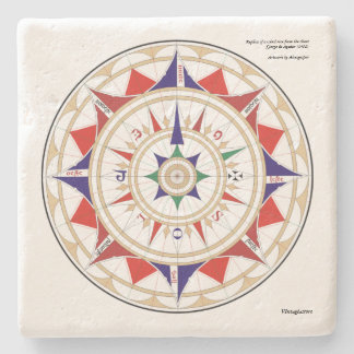 Aguiar Wind Rose Stone Coaster