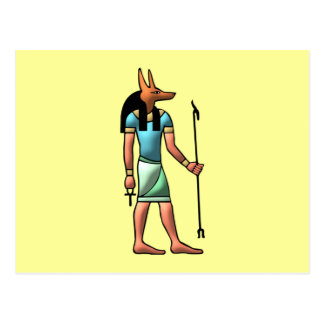 Ägypten Gott Anubis egypt god Postkarten