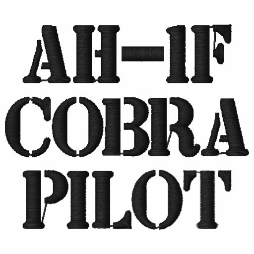 AH-1F Cobra PILOT EMBROIDERED Embroidered Hooded Sweatshirt