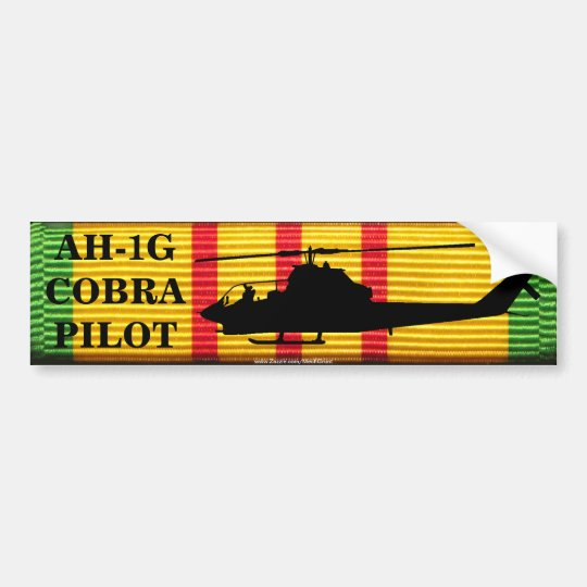 AH-1G Cobra Pilot VSM Ribbon Bumper Sticker