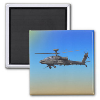 AH-64 Apache Helicopter Square Magnet