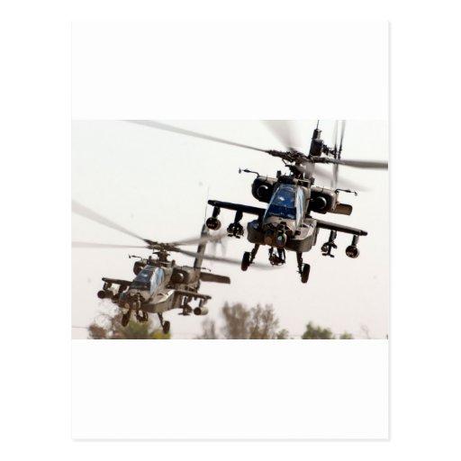 AH-64 Apache Postcard