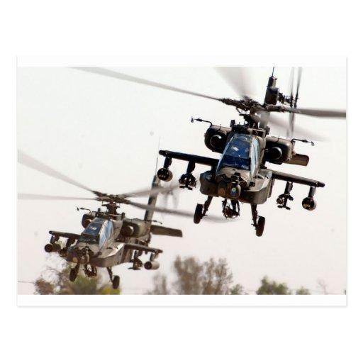 AH-64 Apache Post Card