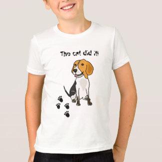 AH- Beagle Blaming Cat T-shirt
