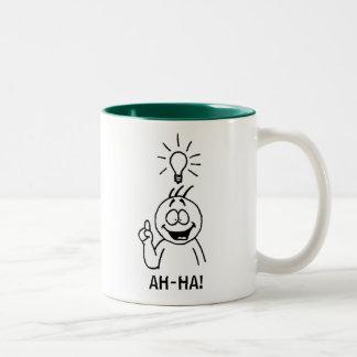 AH-HA! cartoon mug