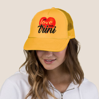 Ah Love Mih Trini Trucker Hat