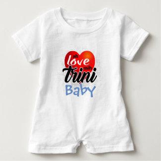 Ah Love mih Trini (your text)! 4 lite Baby Bodysuit