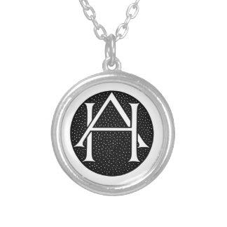AH Monogram Round Pendant Necklace