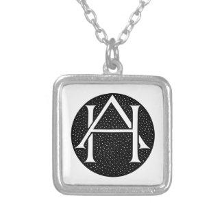AH Monogram Silver Plated Necklace