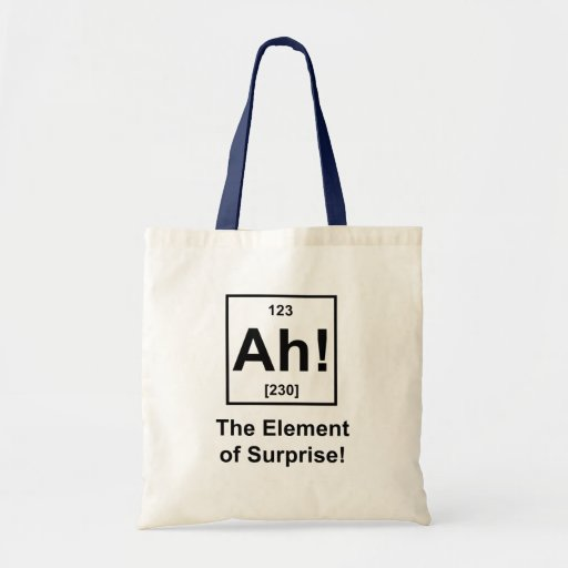 Ah! The Element of Surprise Canvas Bags