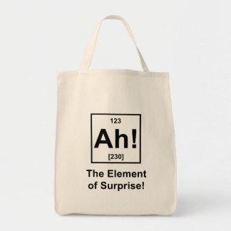 Ah! The Element of Surprise Canvas Bag