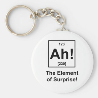 Ah! The Element of Surprise Basic Round Button Key Ring