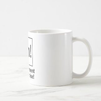 Ah! The Element of Surprise. Basic White Mug